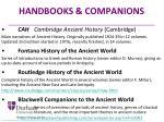 handbooks companions