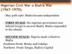 nigerian civil war o biafra war 1967 1970