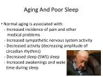 aging and poor sleep