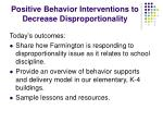 positive behavior interventions to decrease disproportionality1