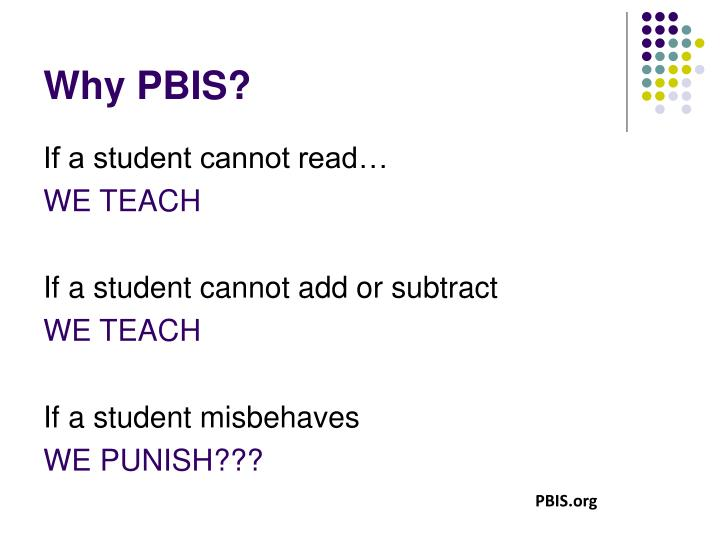 Why PBIS?