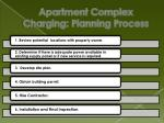 apartment complex charging planning process