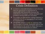 crisis definition