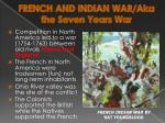 french and indian war aka the seven years war
