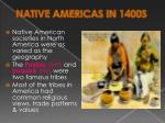 native americas in 1400s