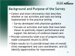 background and purpose of the survey