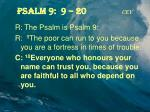 psalm 9 9 20 cev