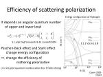 efficiency of scattering polarization
