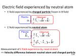 electric field experienced by neutral atom