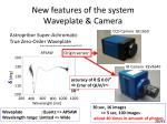 new features of the system waveplate camera