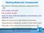 naming molecular compounds2