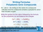 writing formulas polyatomic ionic compounds