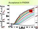 acceptance in phenix
