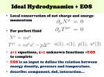 ideal hydrodynamics eos