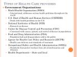 types of health care providers6