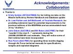 acknowledgements collaboration