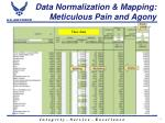 data normalization mapping meticulous pain and agony