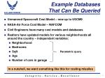 example databases that can be queried