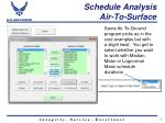 schedule analysis air to surface