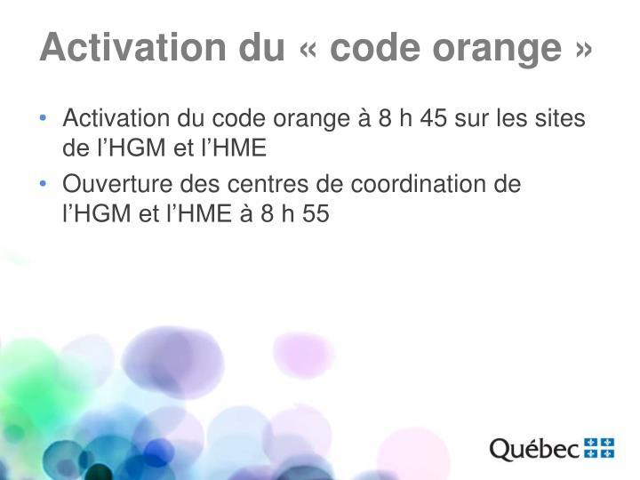 Activation du