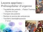 le ons apprises pr hospitalier d urgence1