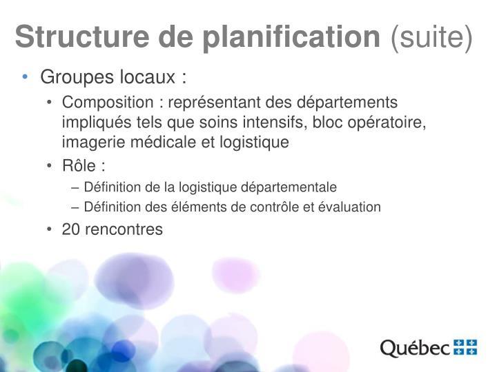 Structure de planification