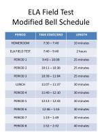 ela field test modified bell schedule