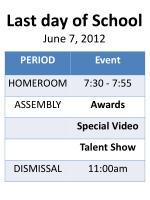 last day of school june 7 2012