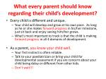 what every parent should know regarding their child s development1