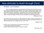 new attitudes to death through christ2