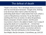 the defeat of death1