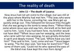 the reality of death1