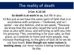 the reality of death7