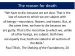the reason for death1