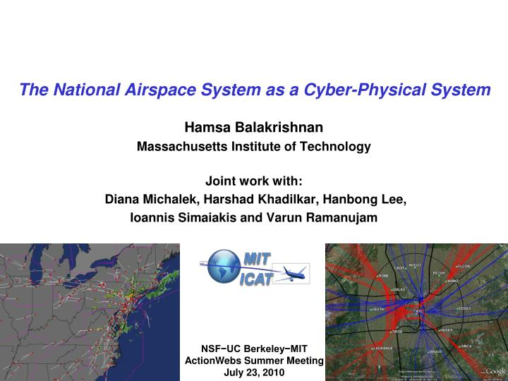 the national airspace system as a cyber physical system n.