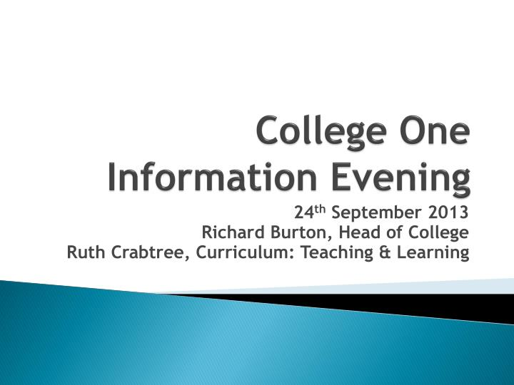 college one information evening n.