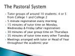 the pastoral system