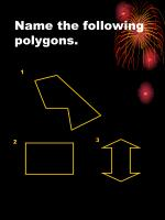 name the following polygons