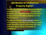 attribution or intellectual property rights
