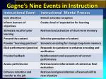 gagne s nine events in instruction