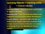 learning objects learning units course library