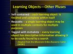 learning objects other pluses