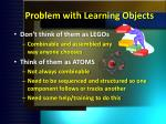 problem with learning objects