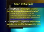 short definitions