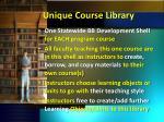 unique course library