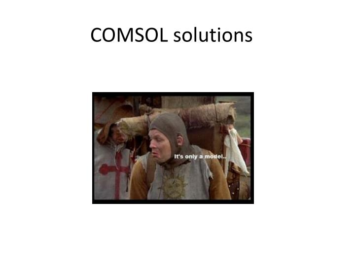 comsol solutions n.