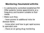 monitoring rheumatoid arthritis1