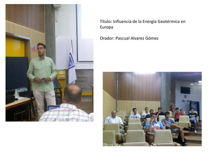 Título: Influencia de la Energía Geotérmica en Europa