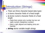 introduction strings
