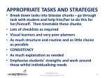 appropriate tasks and strategies1